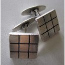 Square squares: N.E. From massive sterling silver Cufflinks!
