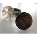 Axel Holm Golden Surface Cufflinks Round