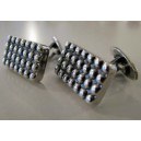 Solid Hans Hansen Cufflinks collected DOTS sterling silver