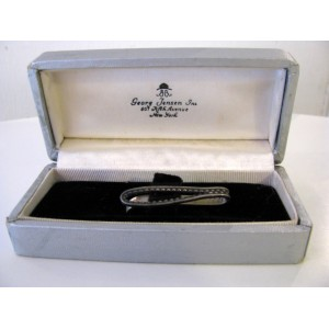 - SOLD - Georg Jensen Rare Early Tie Clip, sterling silver, in Original Box
