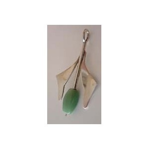- SOLD - Pale Green Chalcedony Pendant by Bjerring Brothers