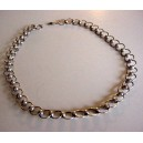Italian silver collier - rounded 30ies