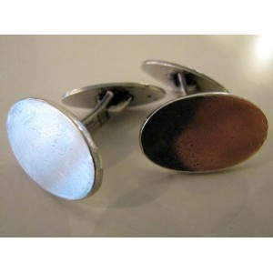 Hassing Hjørring Sterling Silver Oval Cufflinks