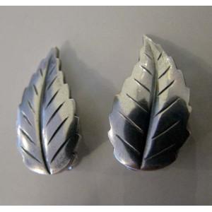 Sweet Sterling Leaf-Clips by John L Denmark