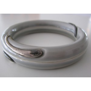 Royal Copenhagen + sterling silver: grey beautiful bangle