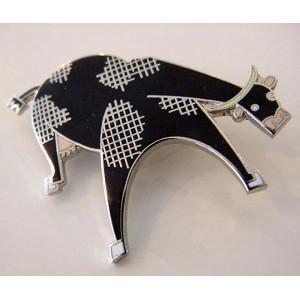 ACME cow pin MOO Steven Guarnaccia