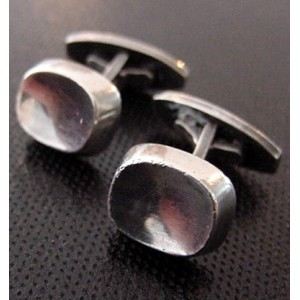 BentK Sterling Silver Cufflinks