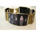 Cool space age Cloisonné Enamel Bracelet