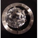 Sparkling Rock Crystal Brooch