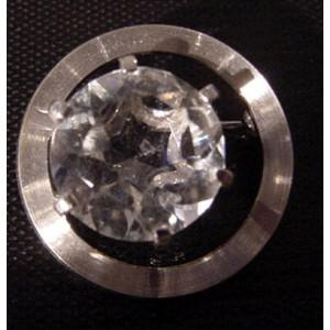 Sparkling Rock Crystal Brooch