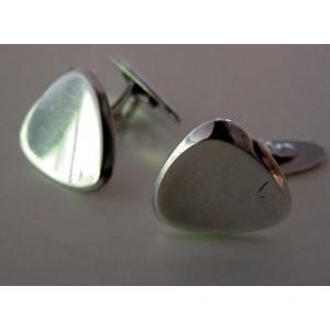 Organic massive+soft Silver Cufflinks