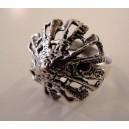 Pyramidal cast silver ring Finland