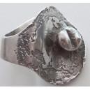 Jane Wiberg, Denmark: Sterling Silver UNIQUE Ring Object