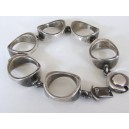 N. E. From Modernist Sterling Silver Bracelet
