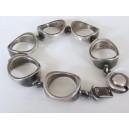 N. E. From Modernist Sterling Silver Bracelet