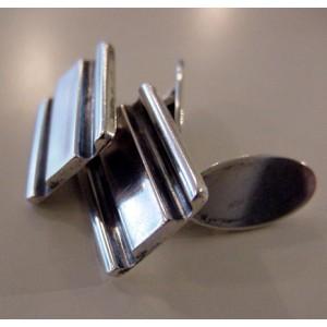 -SOLD - Carl Cohr - strictly clear cufflinks