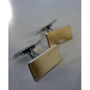 Alton Cufflinks: Elegant Sterling Silver Gold Wash Top