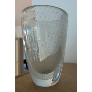 Kaj Franck Nuutajärvi Notsjö early art glass vase Finland: Kraka-style