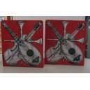 Piero Fornasetti Pair of BOOKENDS Red + Vintage