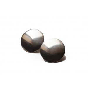 Hans Hansen Ear Clips Round Silver + Elegant