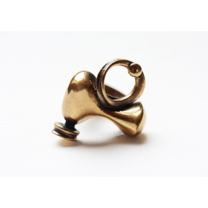 Jorma Laine Bronze Ring Artistic Style Finland