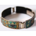 Artistical Cloisonné Enamel Bracelet, Germany 1960's