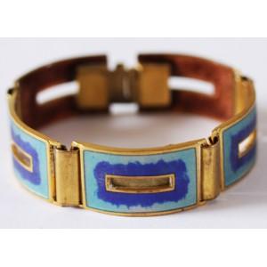 "SOLD - Beautiful Cloisonné Enamel Bracelet ""Deep Sea"" Scholz + Lammel"
