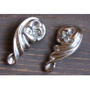Enchanting D'Argent Jewellery Floral Ear Clips with Silver Sphere