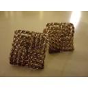 Brd.B : sterling silver rope pattern cufflinks