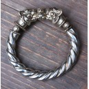 70ies artistic studio bracelet: cast silver + great