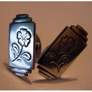 - SOLD - Hans Jensen Art Deco Flower Cufflinks