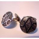 Westerback Oy: Finnish Silver Cufflinks - Strict !