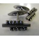 Art Deco Silver Pearl Cufflinks